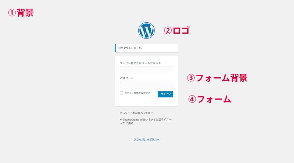 WordPress(ワードプレス)のログイン画面をデザイン変更しよう!ロゴ・背景等コピペできる変更箇所別サンプルコード