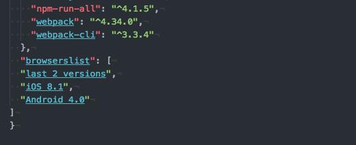 webpackをアップデートしたらgulpfile.jsにautoprefixerの設定書いてるとエラー出るようになったのでpackage.jsonへ移動する