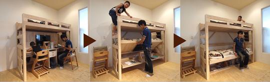 【リノキッズ】子ども用学習机付き二段ベッドを買って2年。使用感とカスタマイズ例