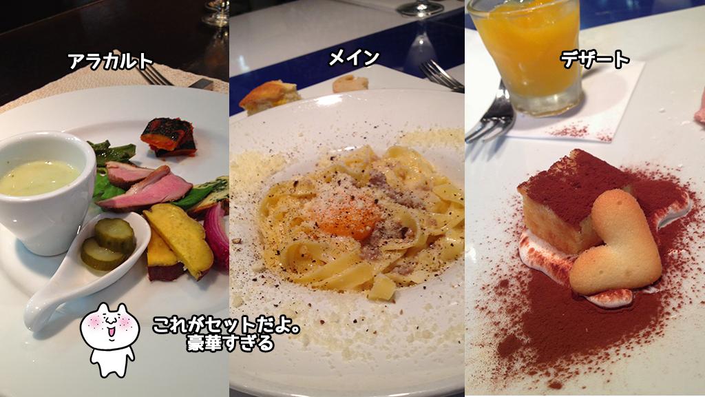 パスタランチ 前菜の盛り合わせ+手打パスタ+デザート+コーヒー 1,100円「トラットリアチェーロ」#西中島