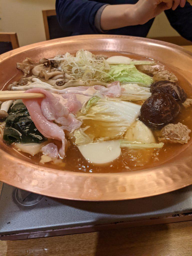 おうどんのお鍋 一人前5,000円「麺匠の心つくし つるとんたん 北新地店」#梅田