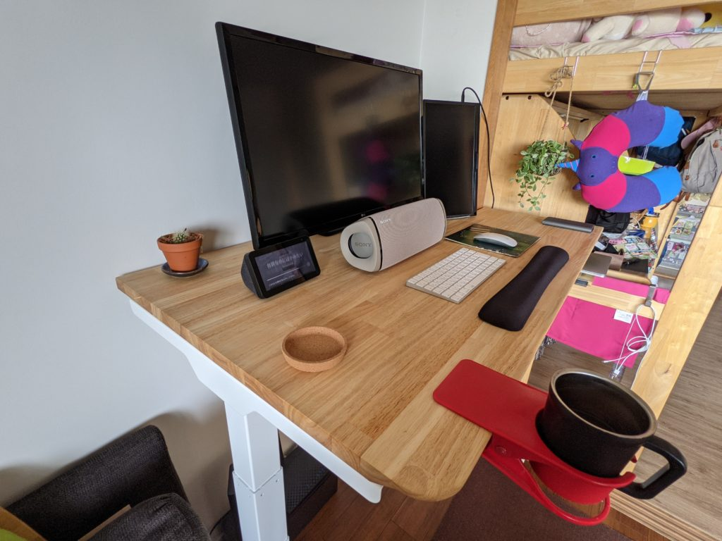 【FlexiSpot E7】自宅に電動昇降デスクを導入!天板DIYで最強のデスクにしよう(完成編)